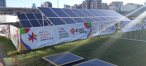 La Feria del Libro se abastece de Energía Solar EXO Energy