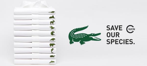 Lacoste cambia su cocodrilo por animales en peligro de extinción