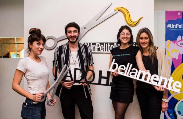 Lado H, Bellamente y Gimena Accardi le cortaron el pelo a más de 350 personas para ayudar a personas con cáncer
